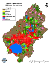 Fremont Lake Watershed Land Use/Cover 2005
